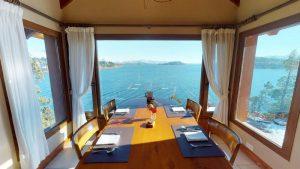 Restaurant en Bariloche Vista al Lago
